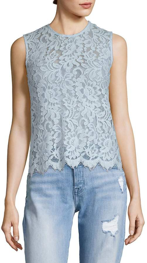 SET Women's Sleeveless Lace Blouse
