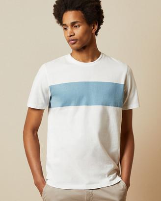 Ted Baker SQUISHH Cotton chest stripe T-shirt