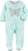 """Carter's Baby Girls' """"Floral Butterfly Split"""" Footed Coverall"""