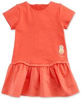 Chloé Short-Sleeve Poplin & Jersey Dress, Pink, Size 12-18 Months