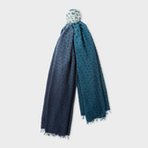 Paul Smith Women's Petrol Dip-Dye Musical Notes Wool-Cashmere Scarf