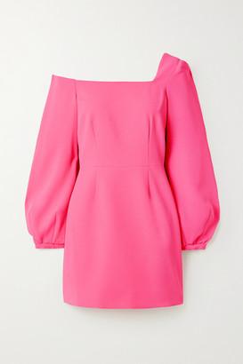 Racil Debbie One-shoulder Crepe Mini Dress - Pink