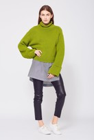 Amanda Wakeley Bonsai Green Cropped Jumper