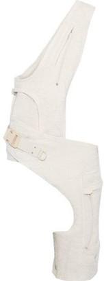 Rick Owens Asymmetric Frayed Woven Vest