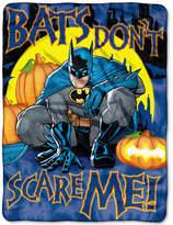 Warner Brothers Batman Not Scary Plush Micro-Raschel Throw Bedding