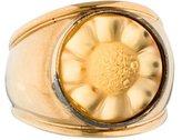 Lalique Carved Crystal Signet Ring
