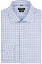 Barneys New York Men's Checked Cotton Dress Shirt-LIGHT BLUE