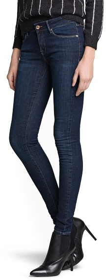 MANGO Ultra-skinny dark wash jeans