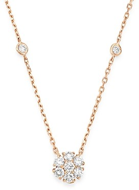Bloomingdale's Diamond Flower Pendant Necklace in 14K Rose Gold, 0.75 ct. t.w. - 100% Exclusive