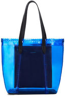 BCBGMAXAZRIA Perforated Scalloped-Trim Tote