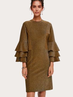 Scotch & Soda Lurex Dress with Frills - small