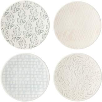 Lenox Textured Neutrals Stoneware 4-Piece Tidbit Plate Set