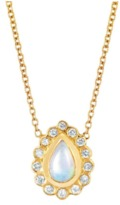 Logan Hollowell - White Opal And Diamond Water Drop Necklace