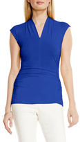 Vince Camuto Side Ruched V-Neck Top (Petite)
