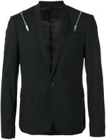 Les Hommes zips blazer - men - Polyester/Spandex/Elastane/Viscose/Wool - 50