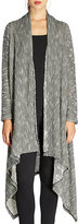 Bobeau Textured Waterfall Duster Cardigan, Gray