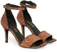 Gestuz Copper Glitter Nelli Glitter Sandals - 37 - Copper
