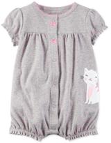 Carter's Dot-Print Cat Romper, Baby Girls (0-24 months)