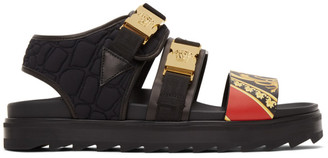 Versace Black Buckle Sandals