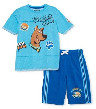 Scooby-Doo Scoob! Boys 4-18 Short Sleeve T-Shirt and Knit Shorts 2-Piece Outfit Set
