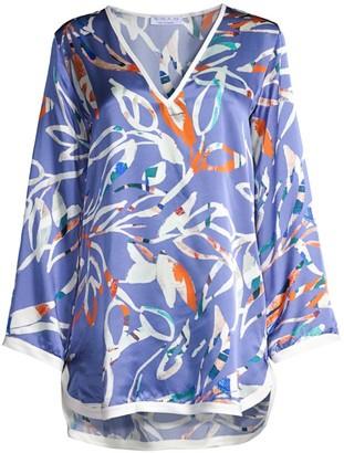 Shan Tokyo Leaf Silk Tunic