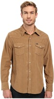 True Grit Jackson Cord Long Sleeve Two-Pocket Western Shirt