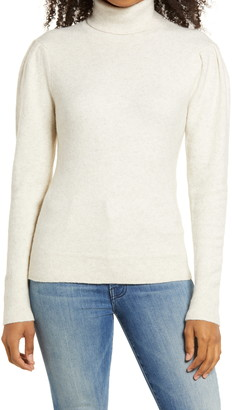Rachel Parcell Rachell Parcell Puff Shoulder Turtleneck Sweater