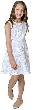 Us Angels Us Angel Girls' Mesh & Lace Paneled Dress, Big Kid - 100% Exclusive