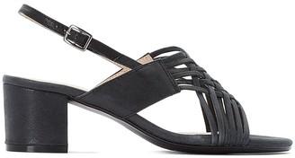 Castaluna Plus Size Block Heel Sandals with Strap