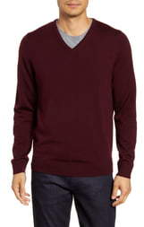 Nordstrom V-Neck Merino Wool Sweater