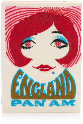 Olympia Le-Tan England Pan Am Embroidered Canvas Clutch