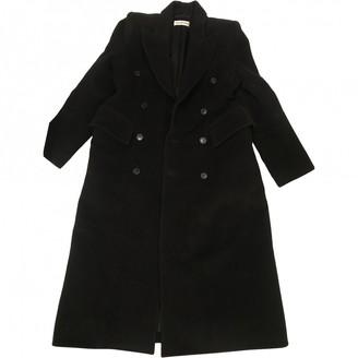 Balenciaga Black Wool Coat for Women
