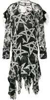 Preen by Thornton Bregazzi Alena star print asymmetric dress - women - Silk/Viscose - M