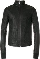 Rick Owens funnel neck jacket - men - Cotton/Calf Leather/Cupro/Virgin Wool - 46