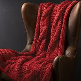Crate & Barrel Cozy Knit Red Throw