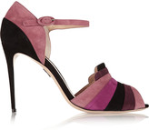 Paul Andrew Guggenheim paneled suede sandals