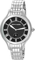 Pierre Cardin Premiere Chic Women's Quartz Watch with Black Dial Analogue Display and Silver Stainless Steel Bracelet PC105042S01