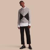 Burberry Overlaid Geometric Motif Sweatshirt