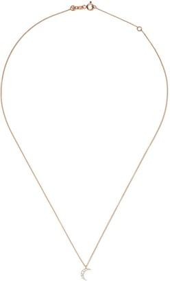 Kismet by Milka 14kt rose gold Mini moon diamond necklace