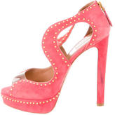 Alaia Studded PVC-Accented Sandals