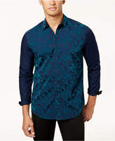 INC International Concepts Men's Flocked Paisley Shirt, Created for Macy's