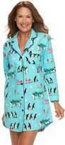 Women's Star & Skye Pajamas: Flannel Notch Sleep Shirt