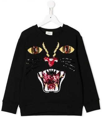 Gucci Kids Sequin Embellished Sweatshirt