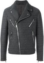 Neil Barrett multi-pocket biker jacket - men - Polyester/Viscose/Wool - M
