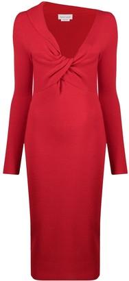 Alexander McQueen Twist Detail Knitted Dress
