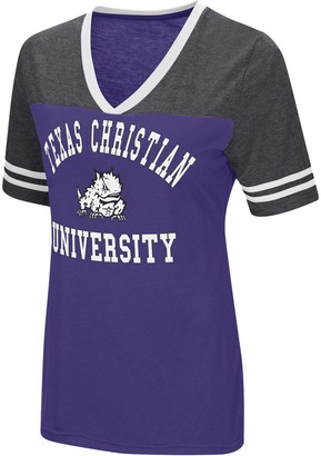 Colosseum Women's Purple TCU Horned Frogs The Whole Package Jersey V-Neck T-Shirt