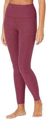 Beyond Yoga Spacedye High Waisted Midi Leggings (Darkest Night) Women's Casual Pants