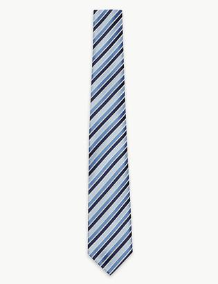 Marks and Spencer Slim Satin Striped Tie