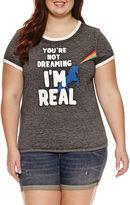 Arizona Unicorn Graphic T-Shirt- Juniors Plus