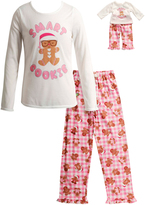 Dollie & Me White 'Smart Cookie' Sleep Top Set & Doll Outfit - Girls
